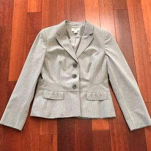 Loft petite light grey jacket/blazer